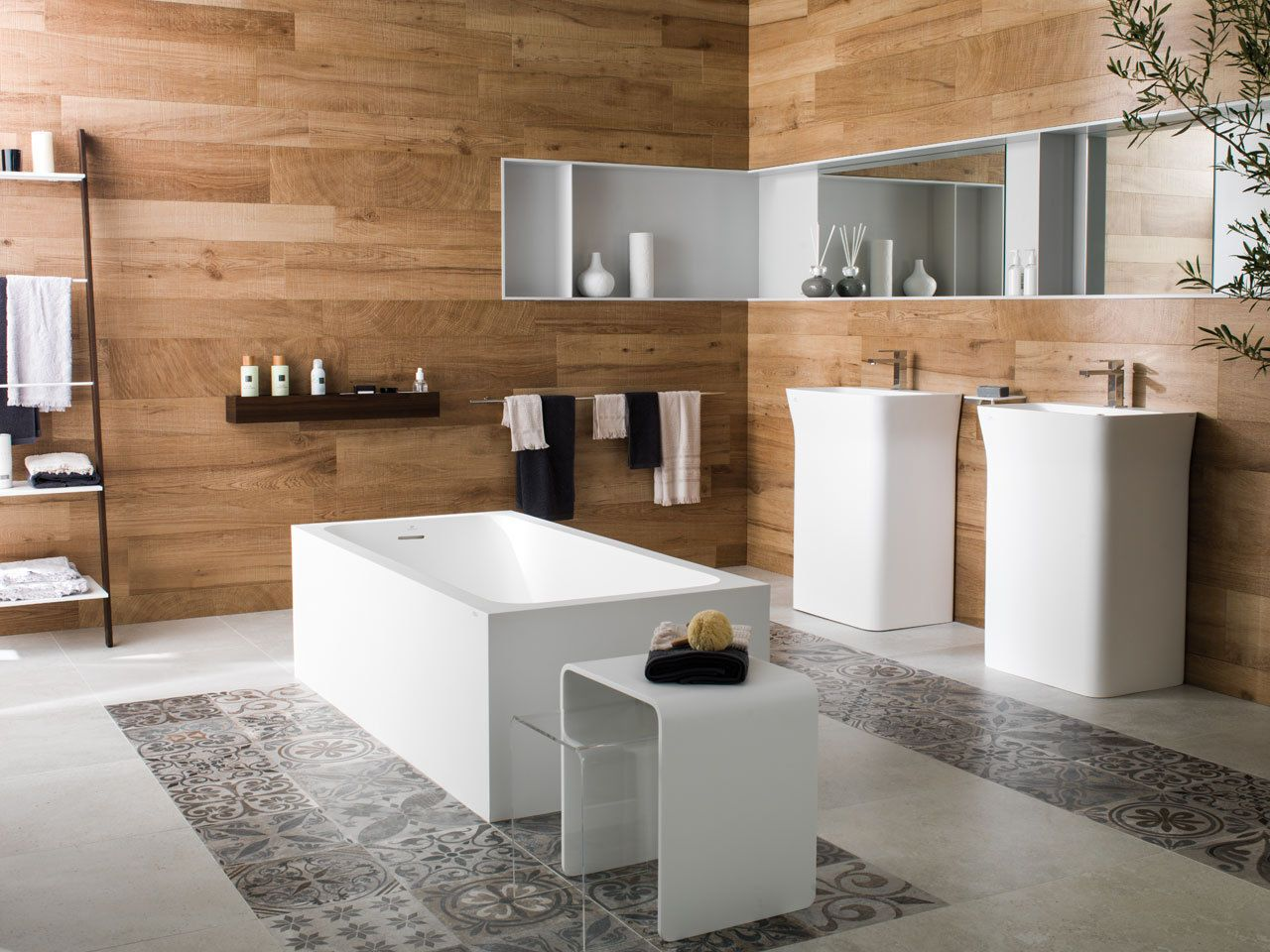 PORCELANOSA Ascot Teca Wood Effect Porcelain Tiles - 15.8m2 ...