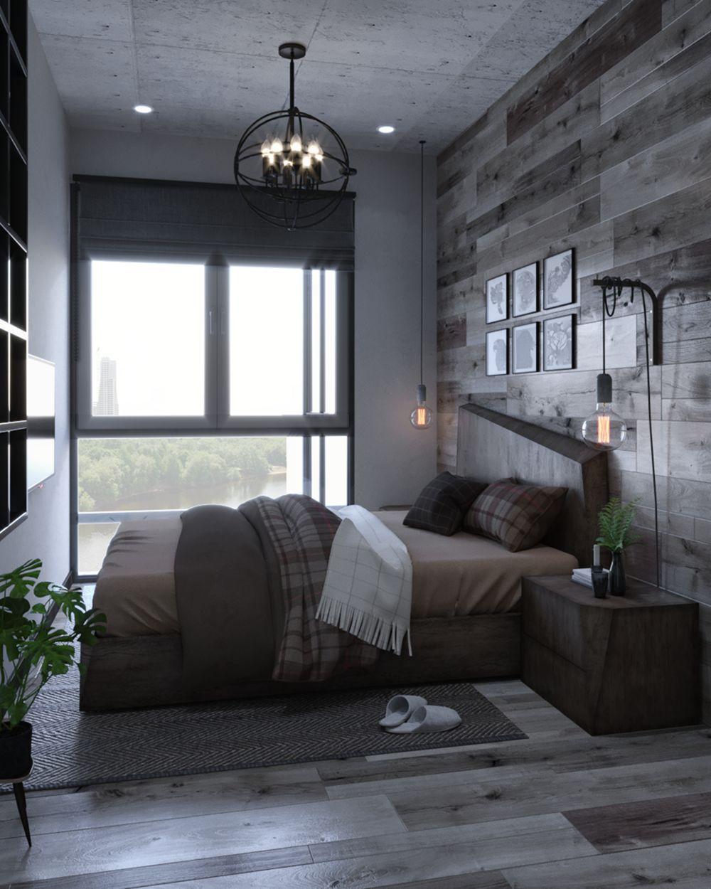 9 Modern Industrial Bedroom Design Ideas For Cool Men S