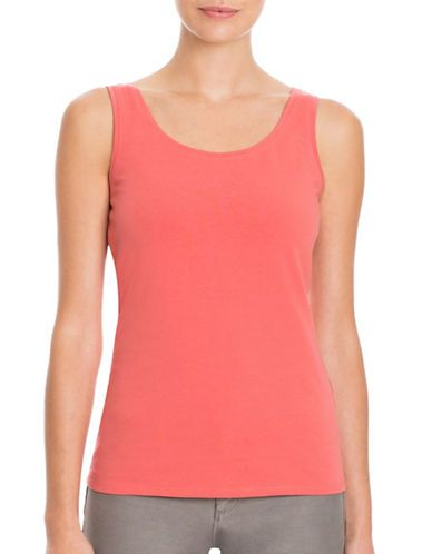 Nic+Zoe Petites Perfect Solid Tank Top Women's Spice Berry Petite Medi