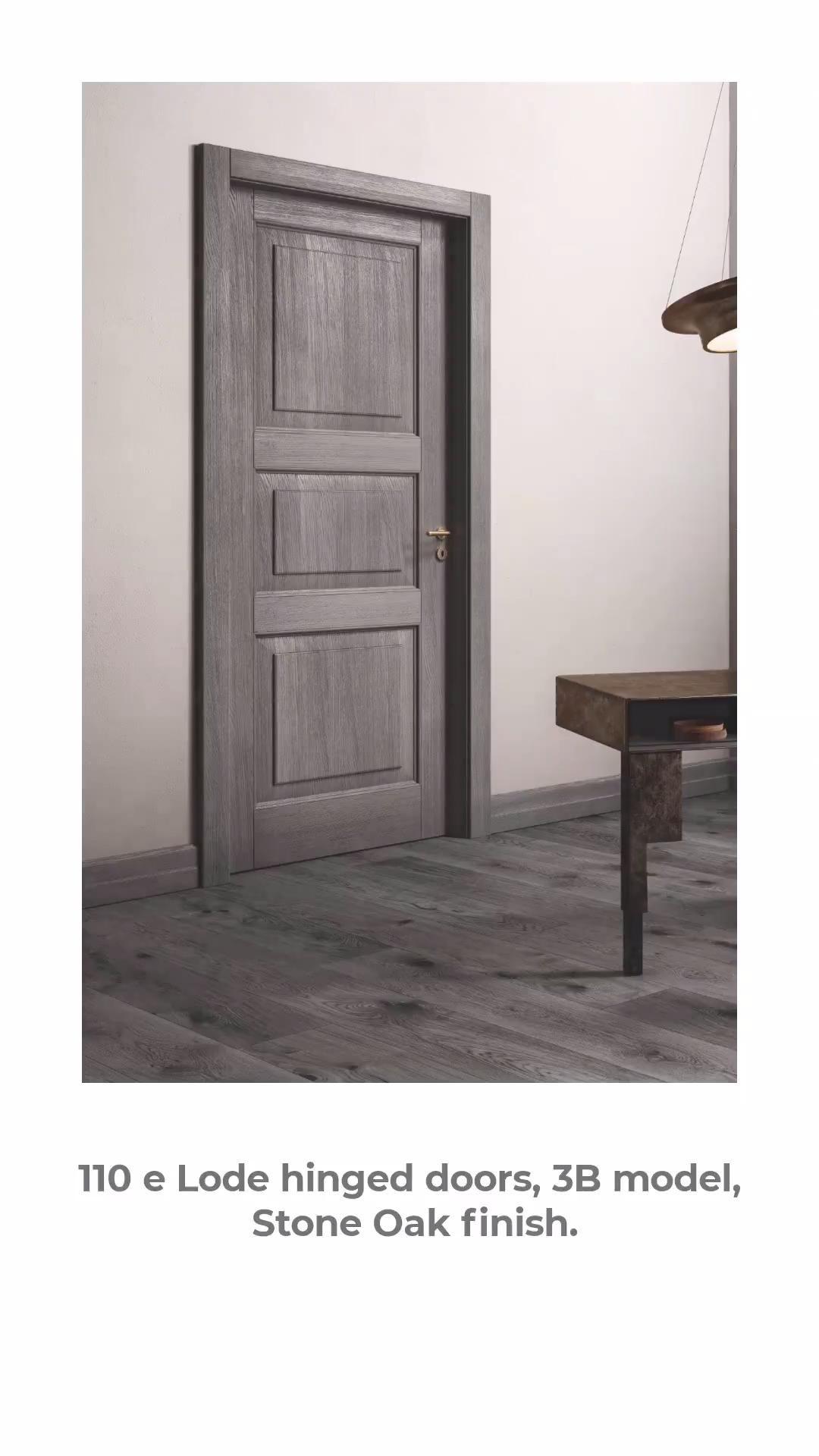 110 e Lode hinged doors, 3B model, Stone Oak finish