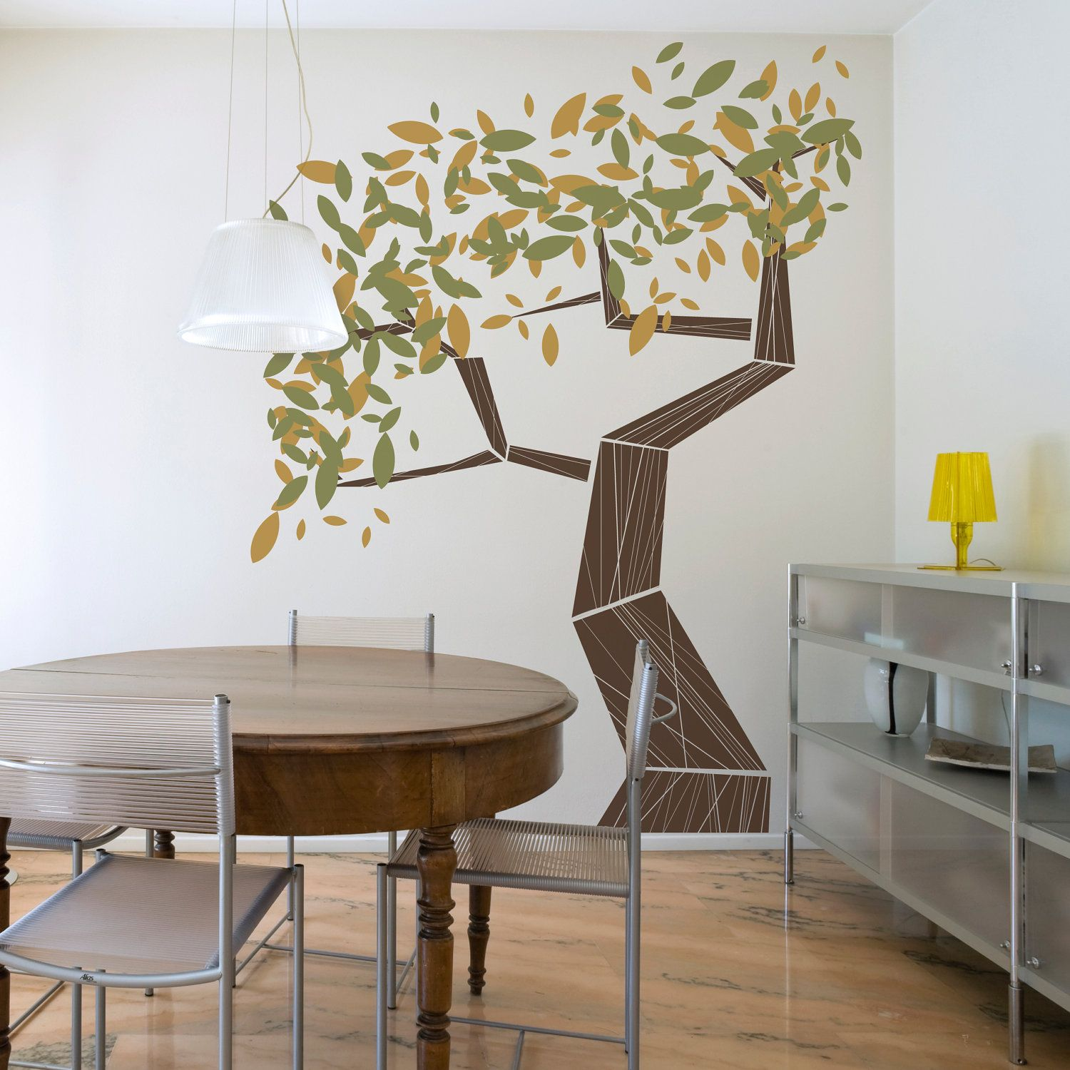 Modern Vinyl Wall Art Modern Tree Vinyl Wall Decal Leafy Tree Graphic By