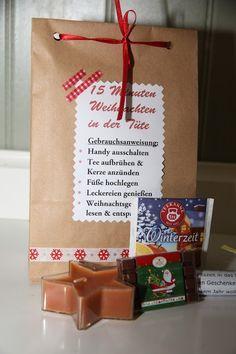 15 Minuten Weihnachten in der Tüte (Anleitung) #bastelideenweihnachten