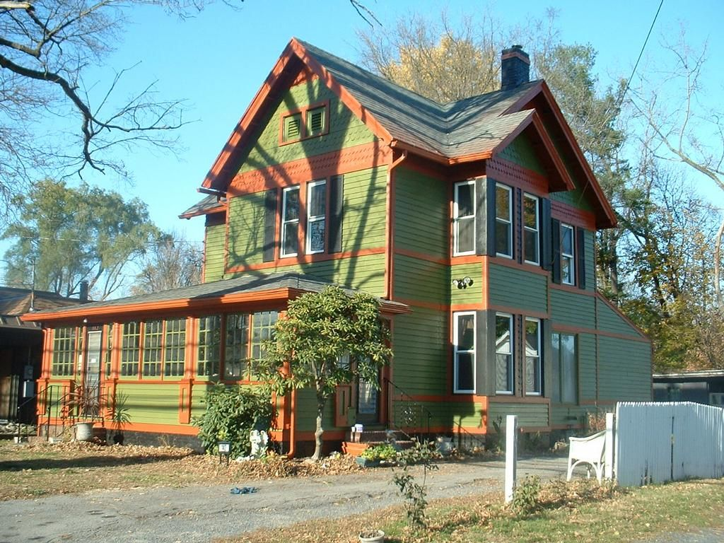 Exterior home colors green - House