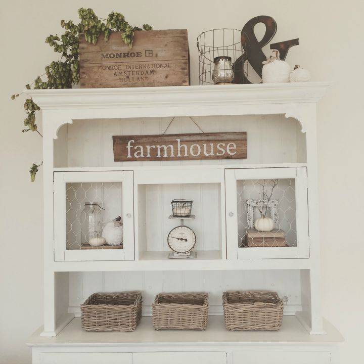 Eclectically Fall Farmhouse Decor Kitchen NookKitchen Cabinets