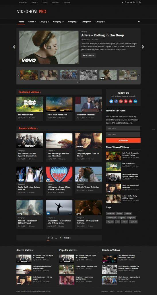 Tu propio sitio web del canal de videos de YouTube en piloto ...