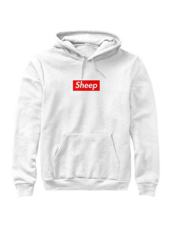 b363276a89c4 Idubbbz Sheep Supreme Box Logo Parody Hoodie