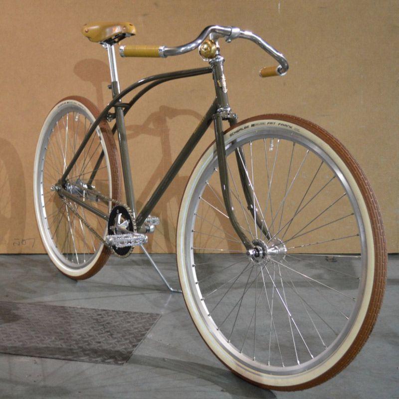 Damen Rennrad Vintage / Retro In 28 Zoll mit Brooks Sattel braun in ...