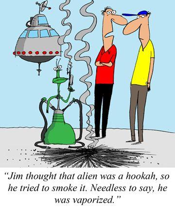 Alien Hookah Hookah Alien Cartoon