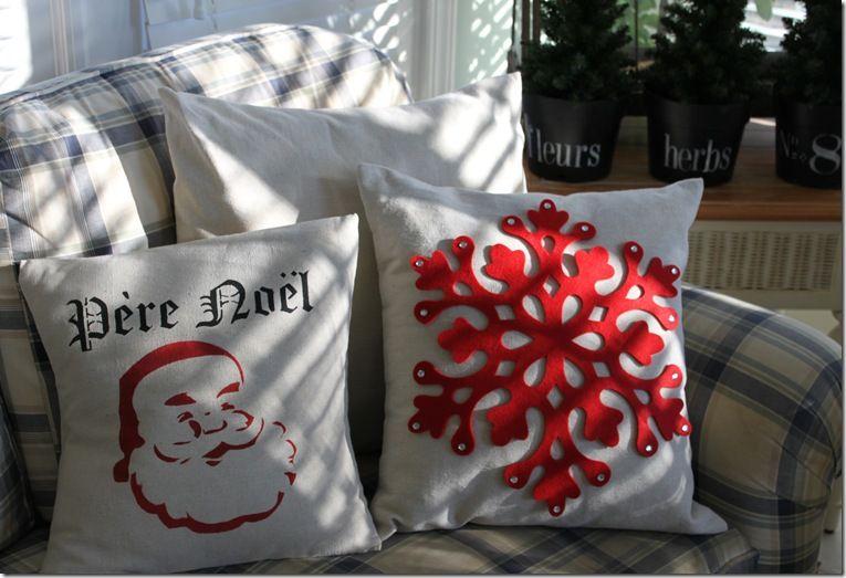 diy Christmas throw pillows Holidays Pinterest