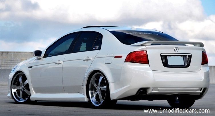 Modified Diamond Pearl White Acura Tl With Custom Catback Exhaust And Dual Magnaflow Mufflers: 2004 Acura Tl Magnaflow Exhaust At Woreks.co