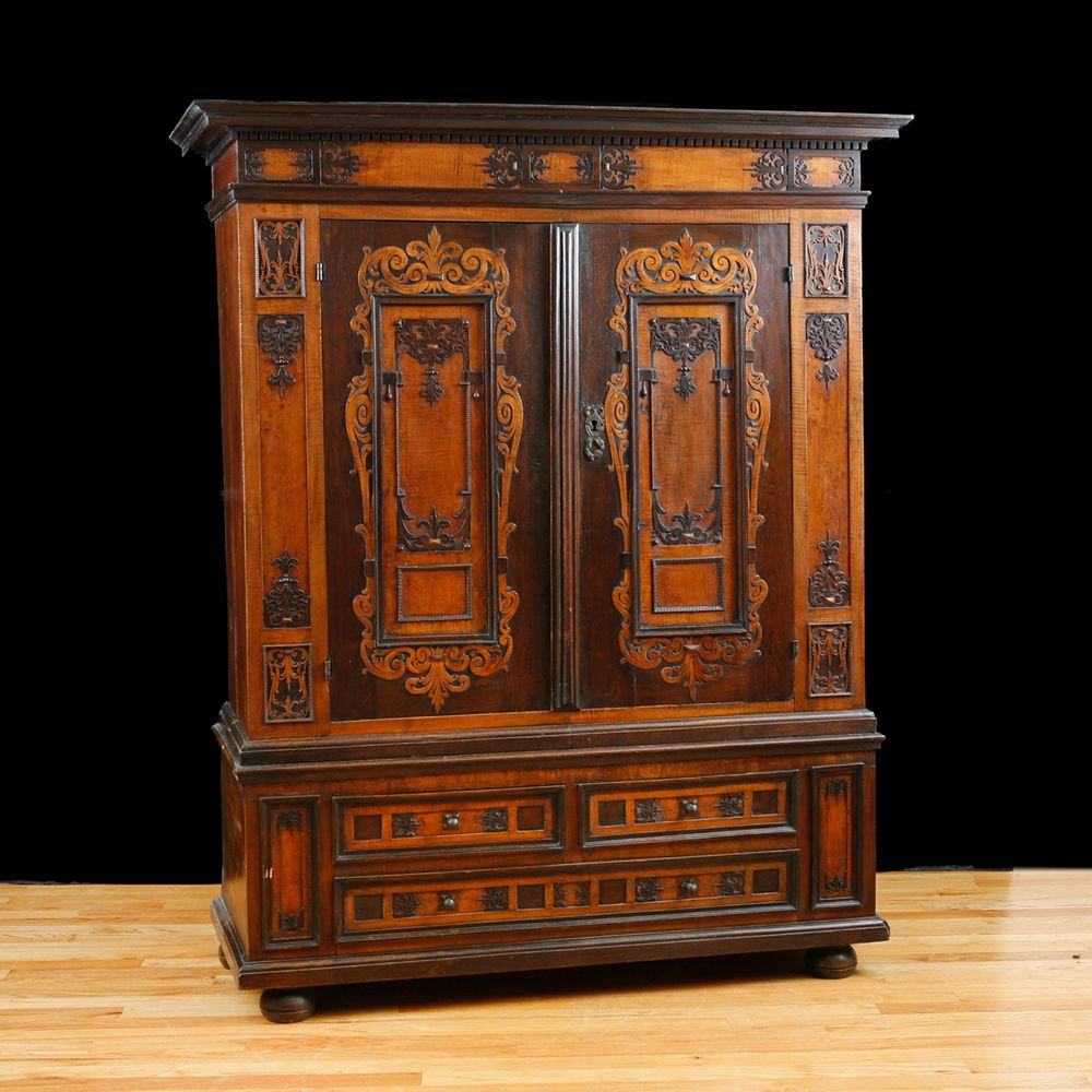 17th Century German Renaissance Armoire - Bonnin Ashley Antiques . - 17th  Century German Renaissance Armoire - German Antique Furniture Antique Furniture
