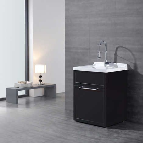 Daisy Brown Vanity Style Utility Sink With Faucet By Ove Décor