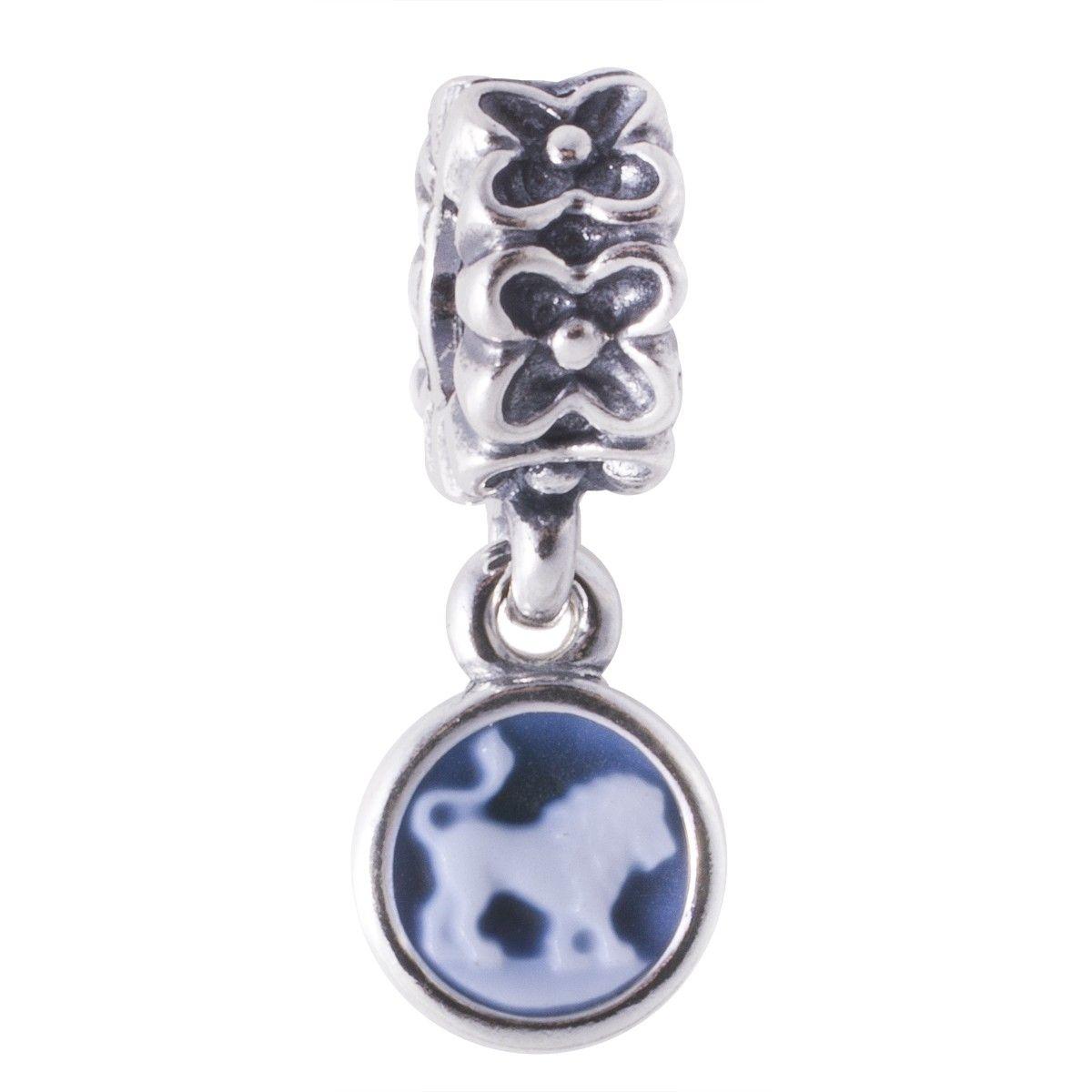 1c2a2462b Pandora Sterling Silver Zodiac Leo Cameo Dangle Charm Item Number:  790500CAM08