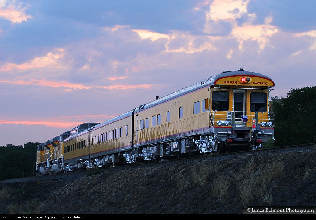 A Union Pacific Operation Lifesaver Special, traveling
