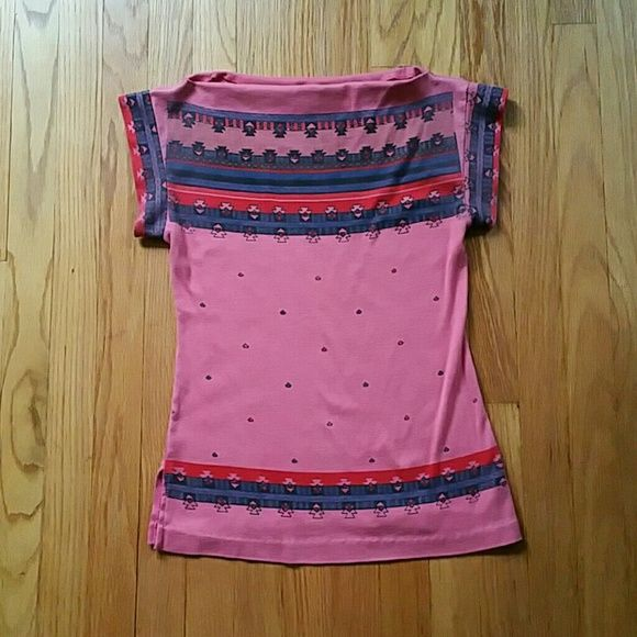 Vintage Southwestern Print Boat Neck Top Great condition. Tag reads Spare Parts From California.  One small red spot up by collar. PRICE IS FIRM. Vintage Tops