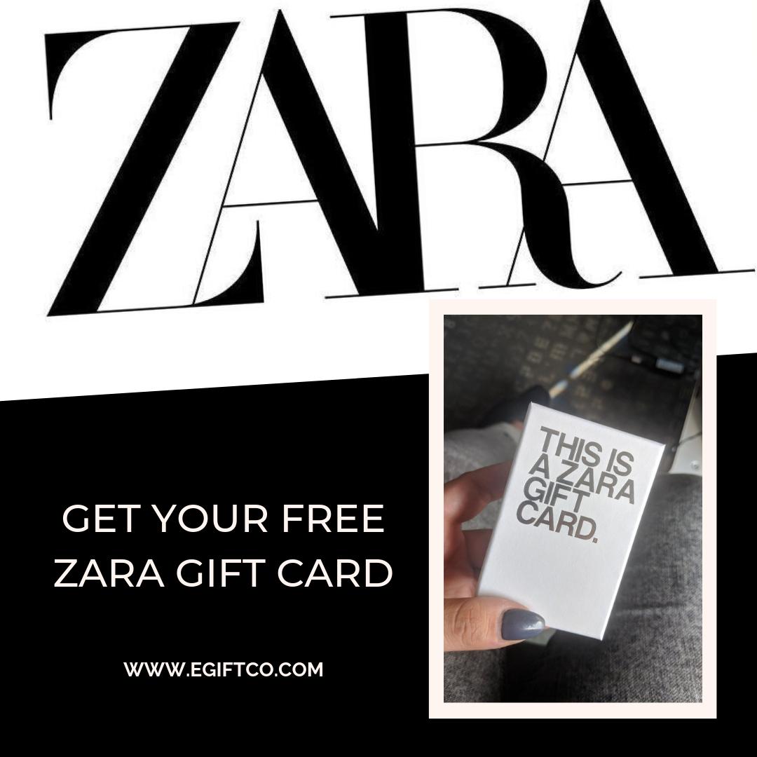 Get Your Free Zara Gift Card Zara Gifts Gift Card Zara