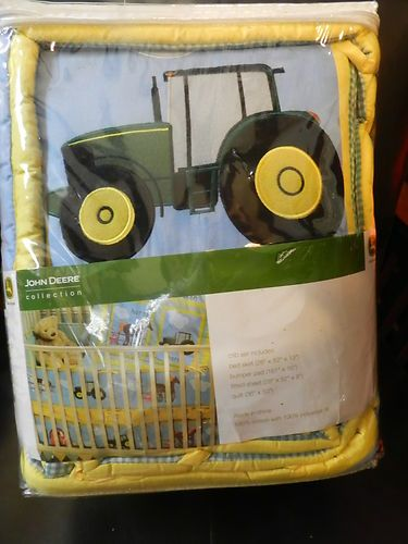 New Crib Nursery Bedding Set John Deere Tractors Down On The Farm Animals
