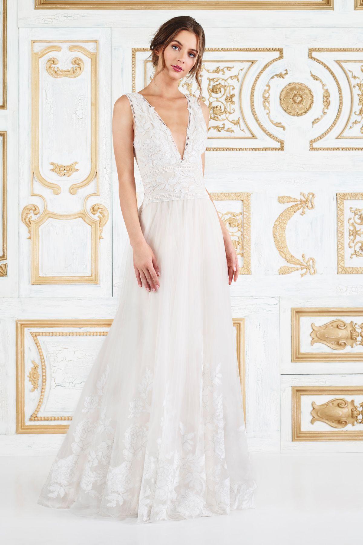 Jaslyn Ball Gown l Tadashi Shoji | Sleeveless Matrimonio Dresses ...