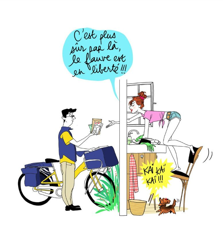 Illustration margaux motin margaux motin virginie humeurs pinterest - Facteur dessin ...