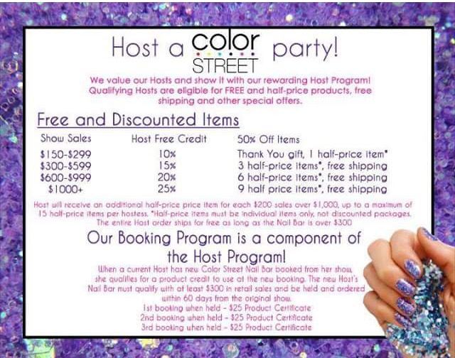 Look At This Amazing Hostess Reward Program Color Street Offers Contact Me To Book A Nail Bar