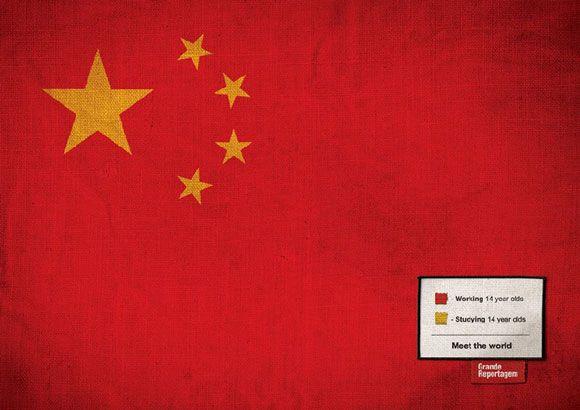 Grand Reportagem China Print Publicidad Grafica Bandera