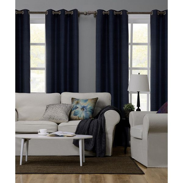 S.L. Home Fashions Nomad Blue Adelle Blackout Curtain Panel ($25) ❤ Liked  On Polyvore Featuring Home, Home Decor, Window Treatments, Curtains, ...