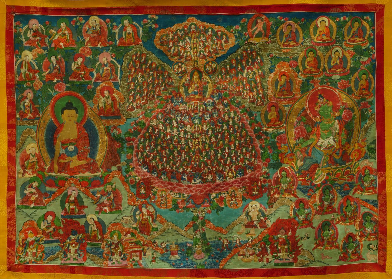 Lot 1739 - A Tibetan thangka, early 20th century,
