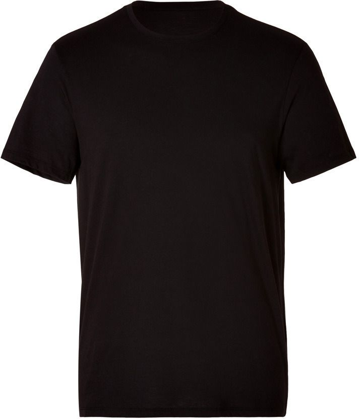 Cotton Crew Neck T Shirt In Black | Cotton and Black
