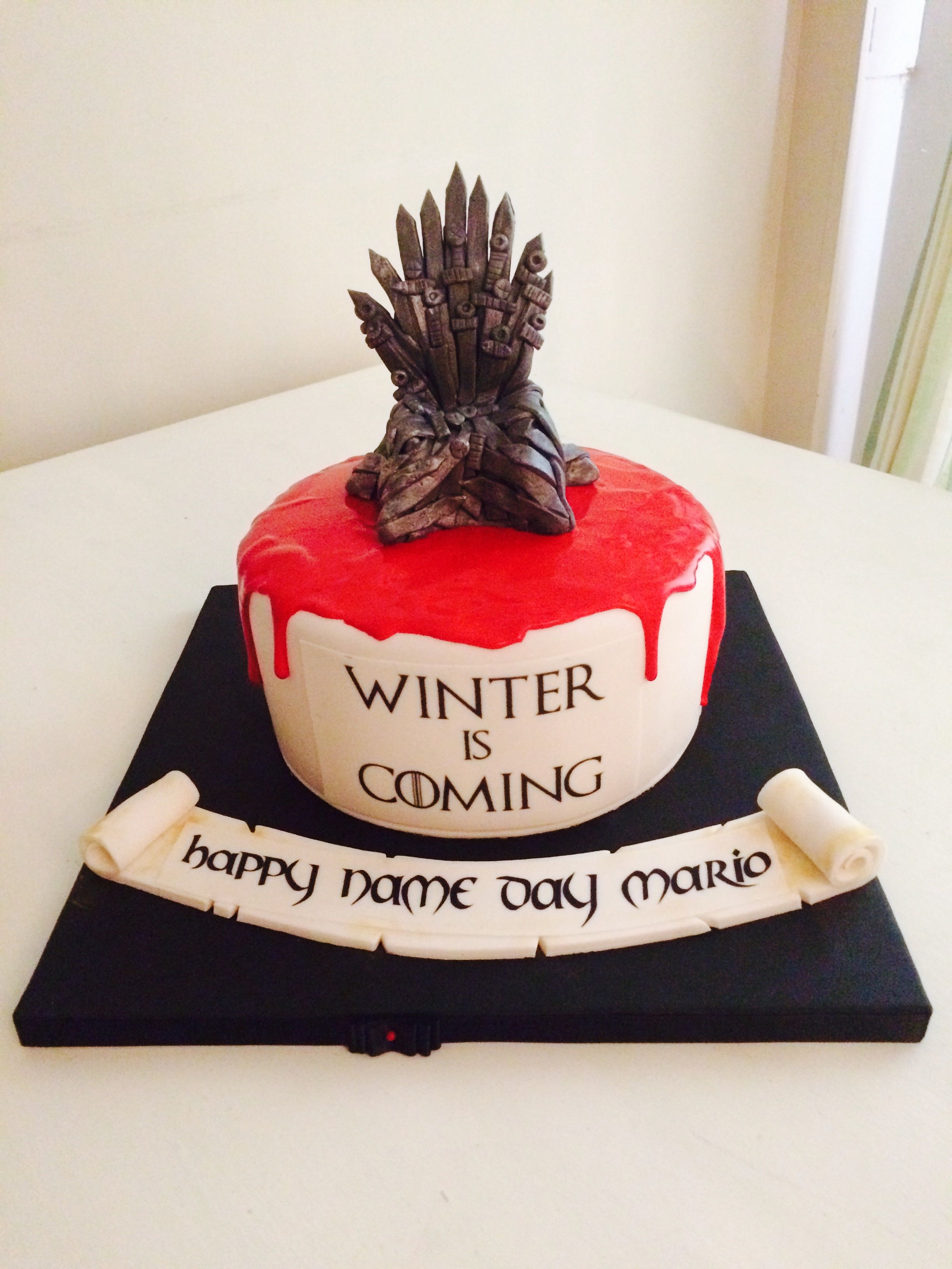 Game Of Thrones Birthday Cake Game Of Thrones Party Decorations