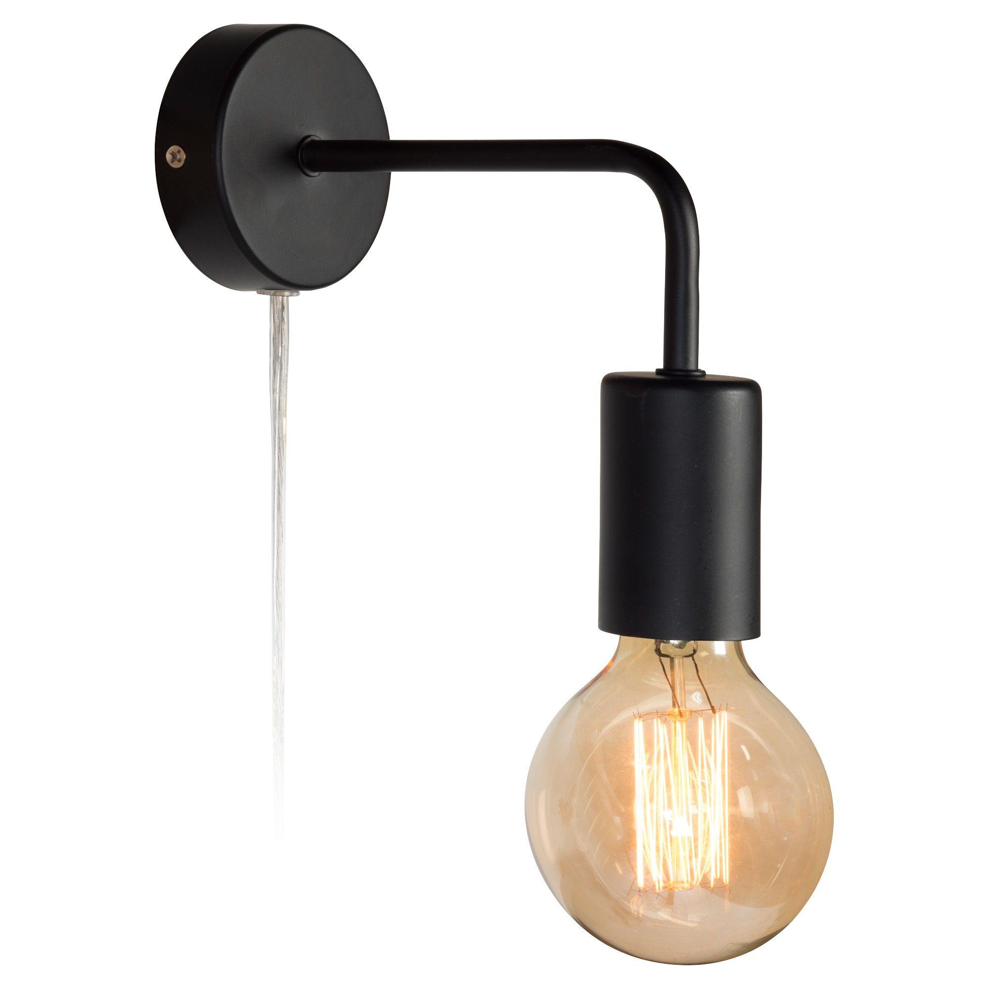 Wandlamp Balor Zwart Kwantum Wandlamp Slaapkamer Verlichting Badkamer Verlichting