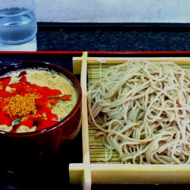 胡麻辛つけそば ala 麓屋@三田 ここの日本蕎麦はホント美味しい。