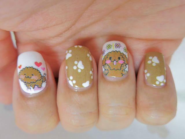 Poodle Puppy Nail Wrap Nail Art A1038 Re Pin Nail Exchange