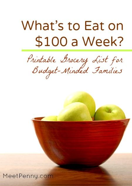 100 Grocery List For A Week Eat On A Budget Budgeting Grocery