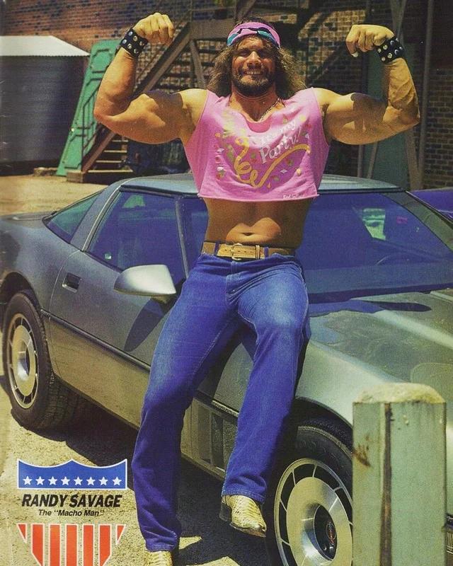 Macho Man Randy Savage In The Most 80s Photo Ever Oldschoolcool Macho Man Randy Savage Macho Man Wrestling Superstars
