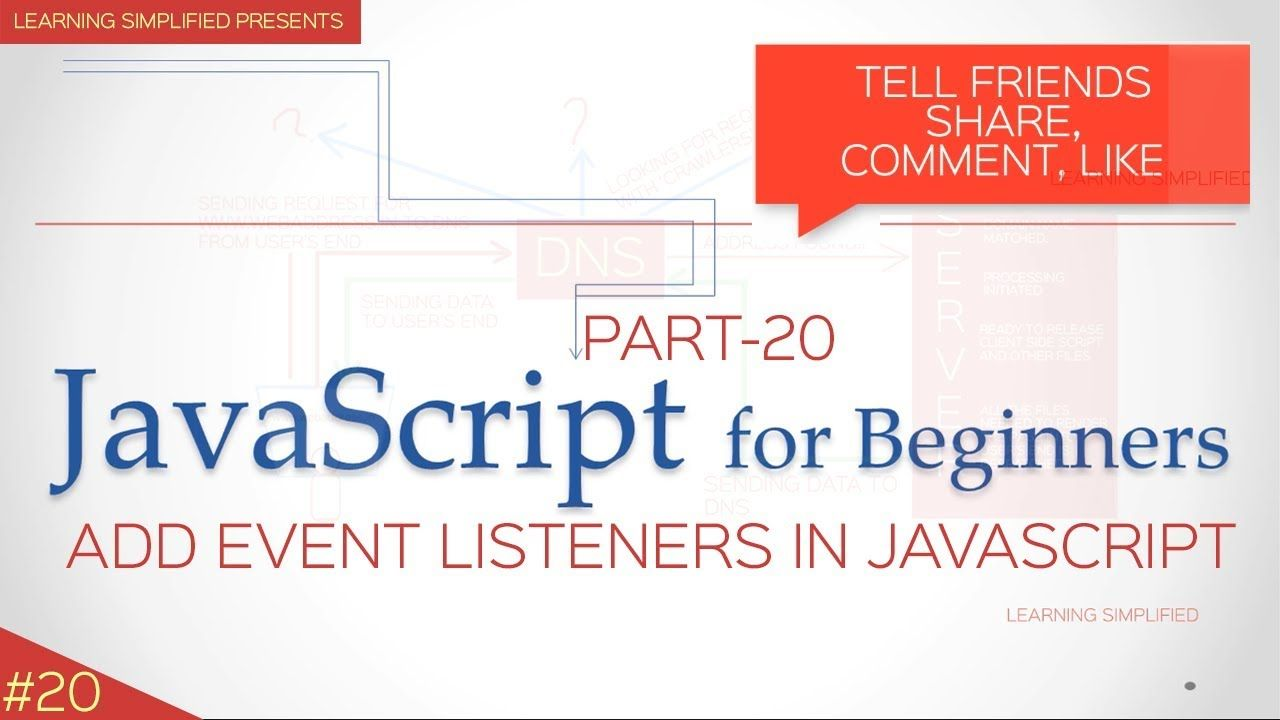 How to use addeventlistener in javascript tutorial for beginners how to use addeventlistener in javascript tutorial for beginners baditri Images