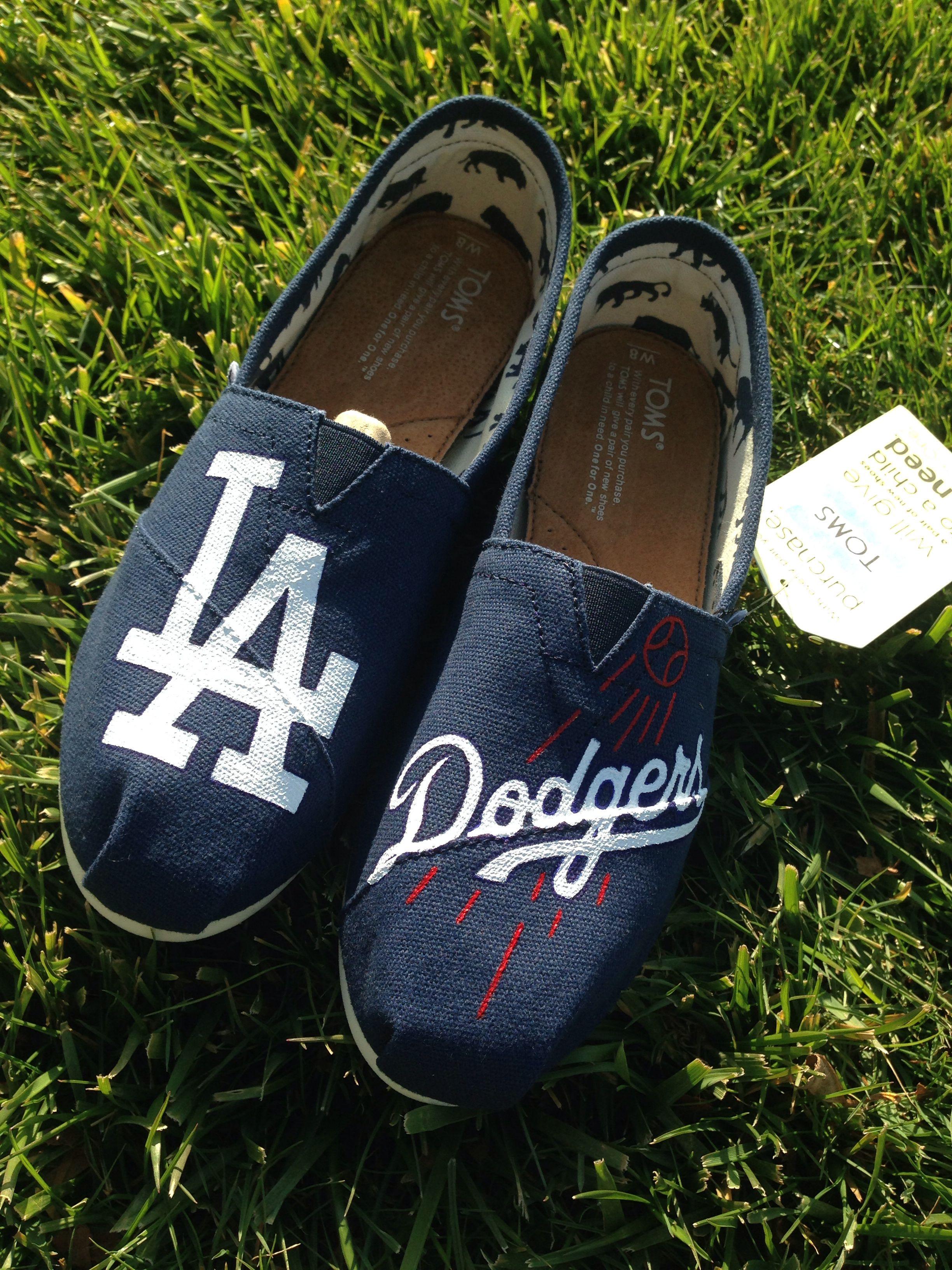 Custom Los Angeles Dodgers Toms women's