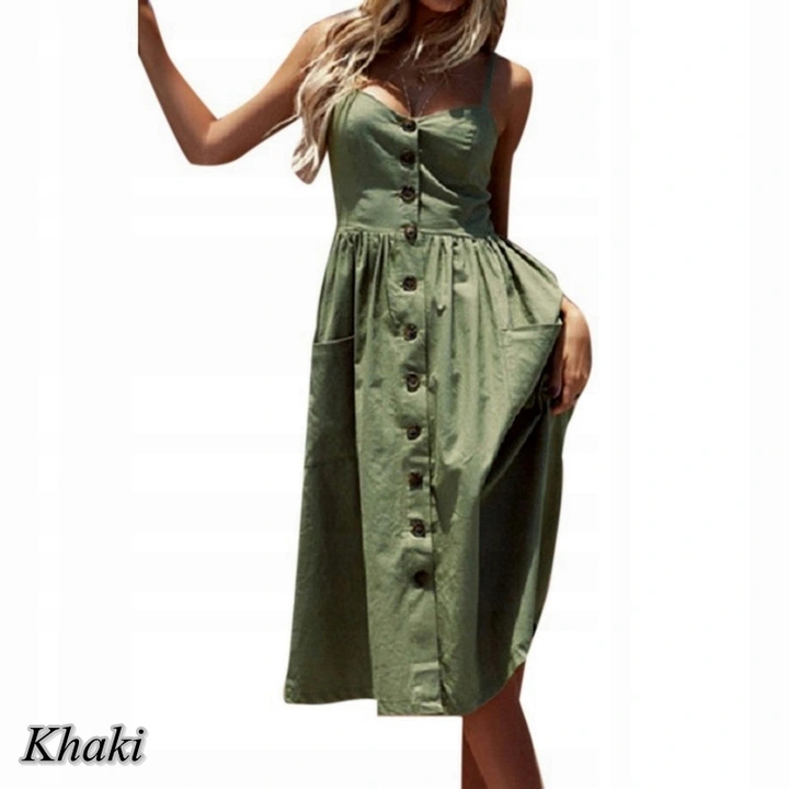 941 Zwiewna Lekka Sukienka Guziki Ramiaczka Lato 8089817327 Allegro Pl Summer Dresses For Women Summer Dresses Midi Dress Summer
