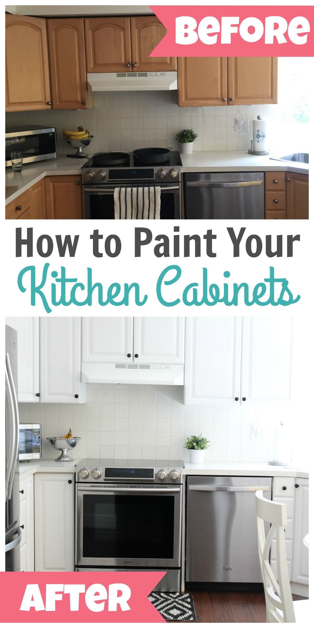 How To Paint Kitchen Cabinets Happy Home Fairy Cheap Kitchen Cabinets Laminate Kitchen Cabinets Clean Kitchen Cabinets