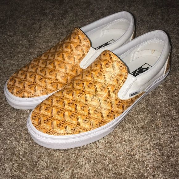 cad9c19e7b35 Shop Men s Goyard Yellow size 9.5 Sneakers at a discounted price at Poshmark.  Description  Goyard custom vans made out of real Goyard.. Sold by  paulhasler.