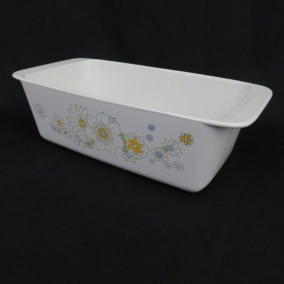 Corning Ware Floral Bouquet Loaf Pan P315B 2 Quart