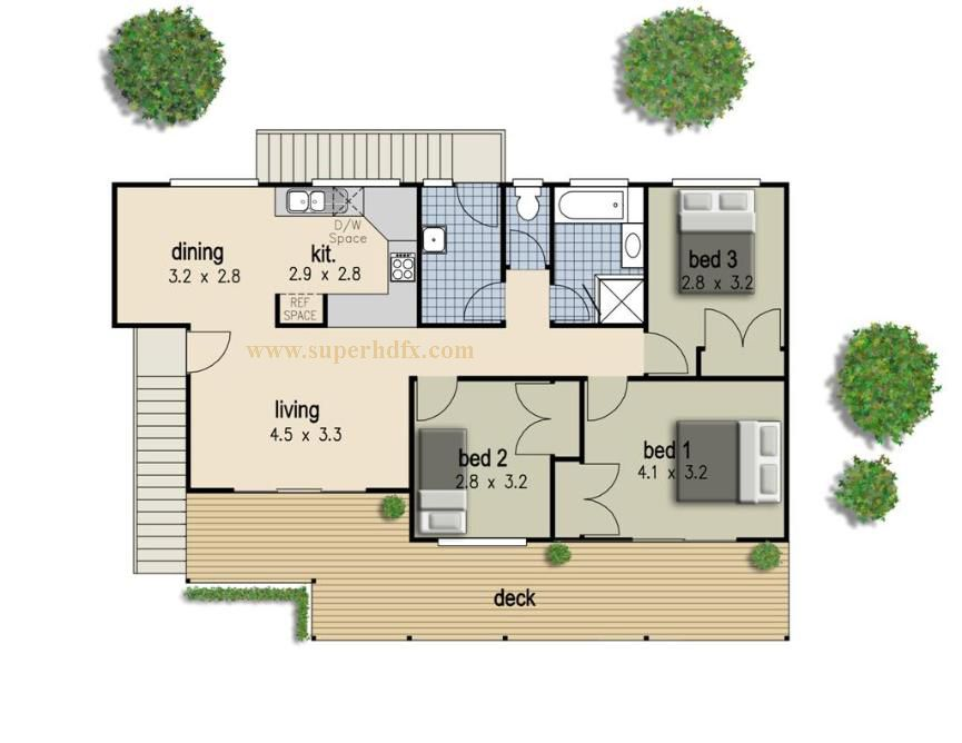 Simple Bedroom House Plan Home Autocad Design Bedrooms The