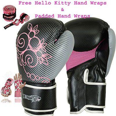 Ladies Pink Gel Boxing Gloves Bag Womens Gym Kick Pads Mma Mitts Muay Thai G Pink 4 Oz Boxing Glove Bag Boxing Gloves Gloves