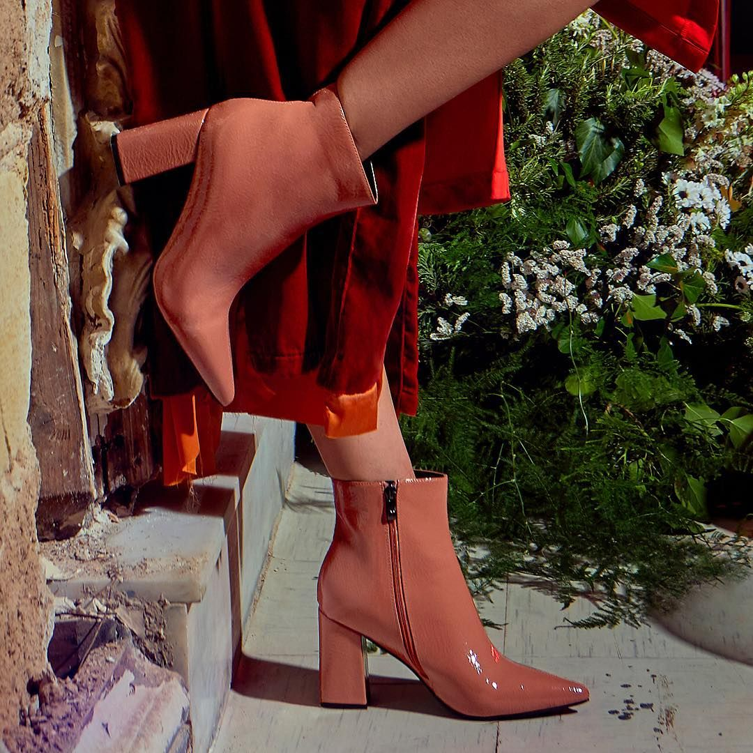 71be46108b8 Shine on in the #MIGATO ST1611 nude patent booties! Photographe ...