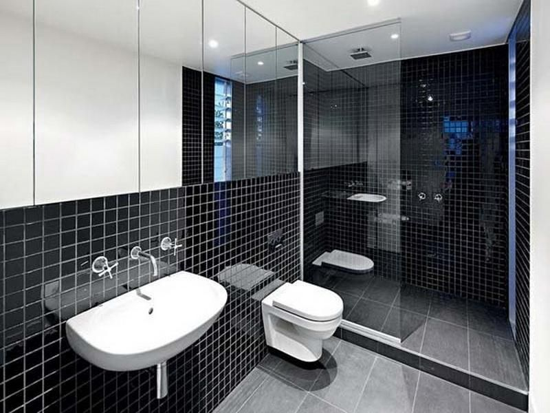 Photo Gallery Website Modern Black White Bathroom Mozaic Tile Design Ideas