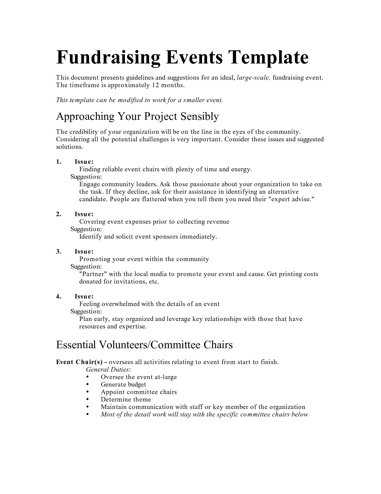 sample fundraising proposal – Fundraising Proposal Template