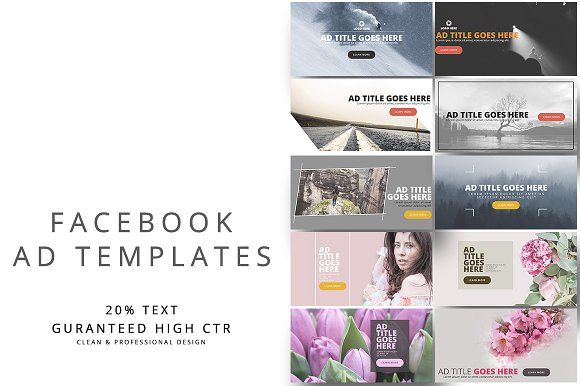 Facebook Ad Templates Vol By Pmvch On Creativemarket Graphic - Facebook advertising template