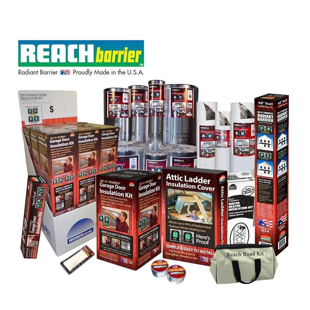 Reach Barrier Reflective Air Garage Door Insulation Kit