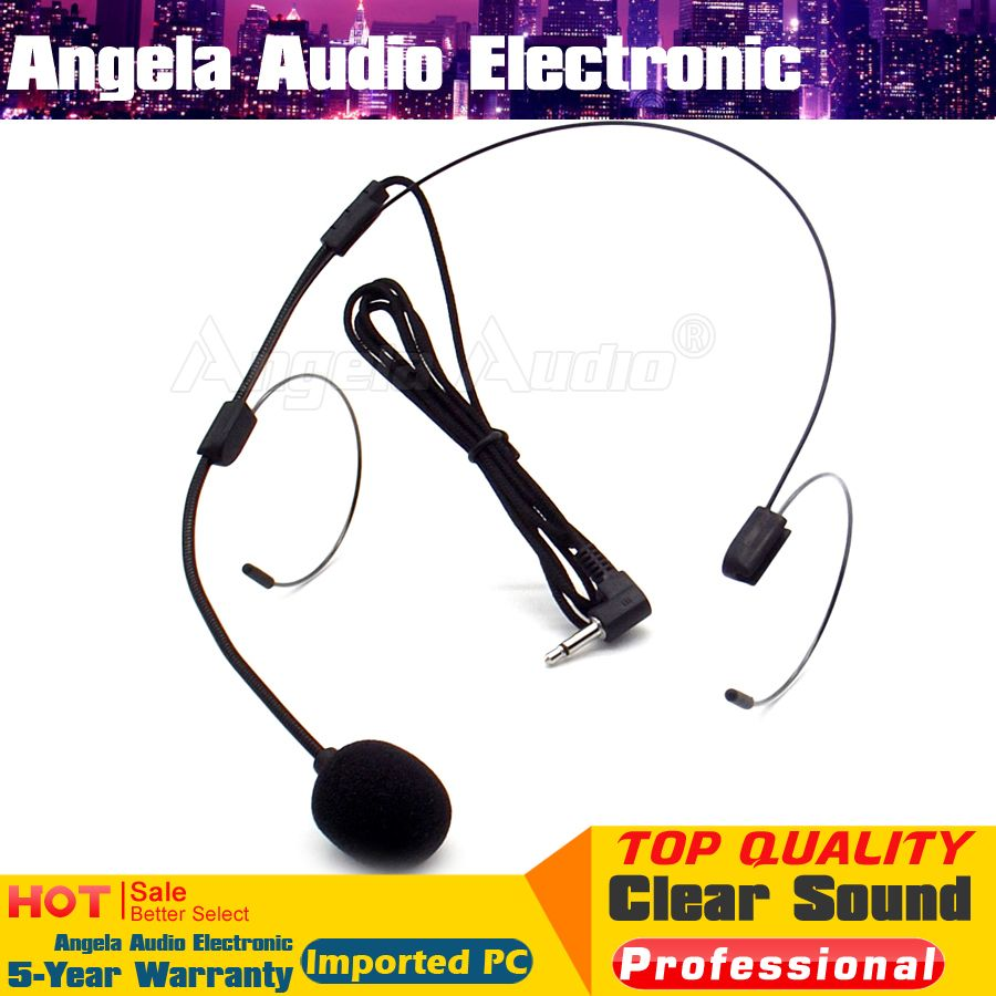 Click To Buy Black 35mm Plug Headworn Headset Condenser Mic Amplifier Microphone For Wireless Usb Speaker Teaching Tour Guide Speech Pc Computer