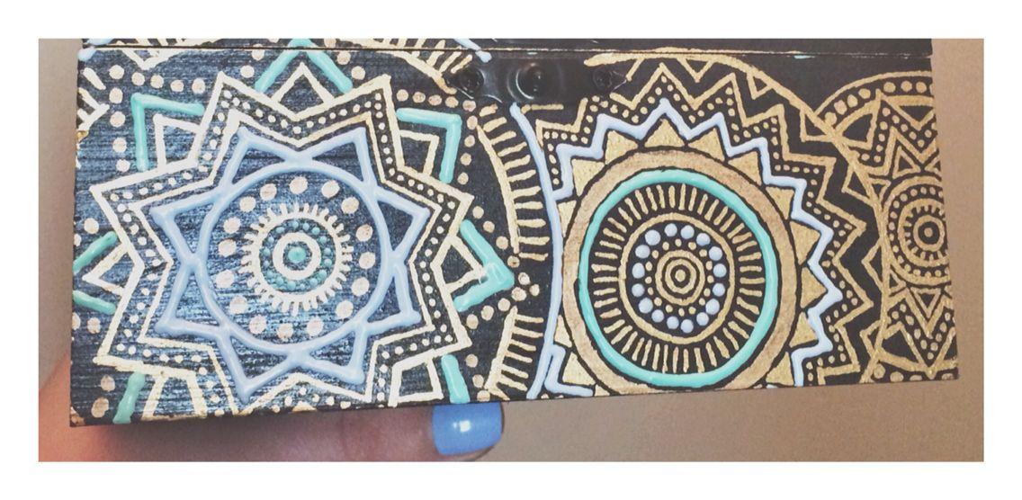 hand painted jewelry box by Mandala Minds  a424401d5e3