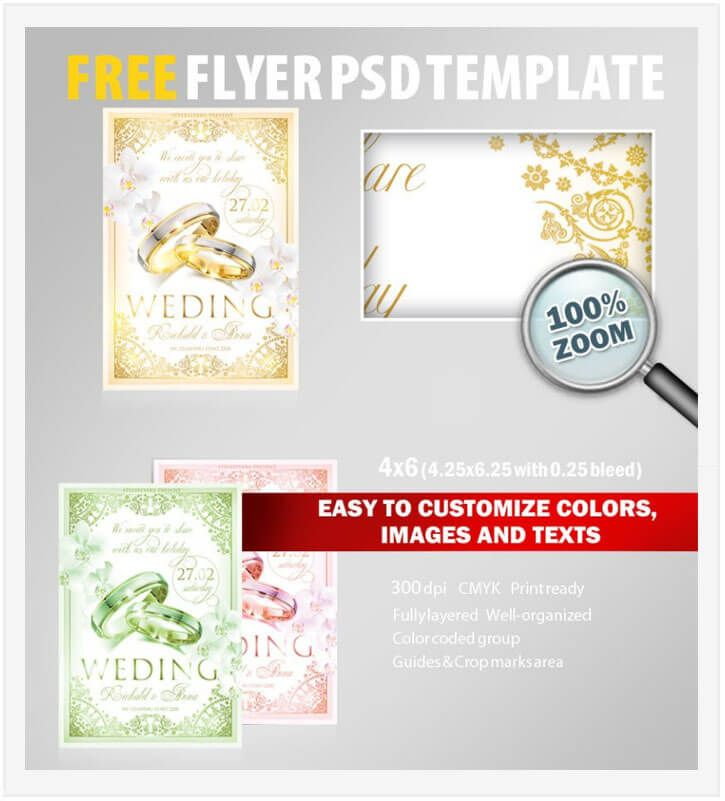 20 Free Wedding Flyer Templates In Psd Vector Ai Pinterest